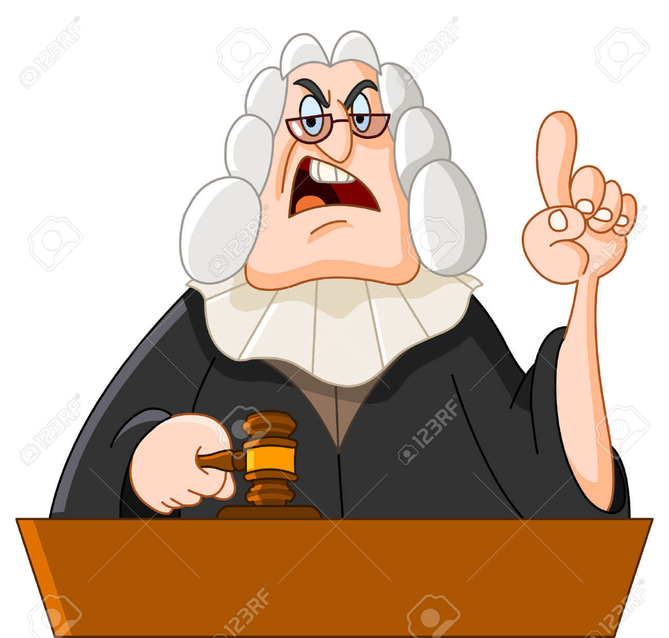 وکیل کیفری  وکیل کیفری 8524816 Judge Stock Vector judge cartoon lawyer 2